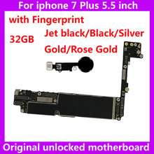 32GB original motherboard for IPhone 7Plus with touch ID unlocked worldwide mainboard for iphone 7 Plus IOS System logic board(China)