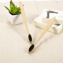 NEW 1pc Natural Bamboo Toothbrush Bamboo Charcoal Toothbrush Low Carbon Wood Handle Protable Travel Outdoor Use Oral Toothbrush
