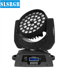 36X10W LED Zoom Wash Moving Head Lights RGBW 4IN1 Led Moving Head Wash Beam Effect Lights For Stage Professional Dj Equipment(China)