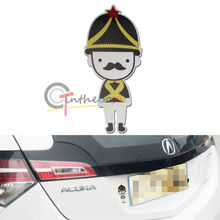 (1) JDM Style Cute UK British Soldier Sticker Reflective Decal For Car SUV Truck