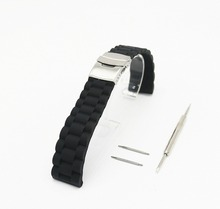 ot03 18mm 20mm 22mm24mm Silicone Rubber Watch Band for Casio BEM 302 307 501 506 517 EF MTP Series Safety Buckle Strap Bracelet(China)