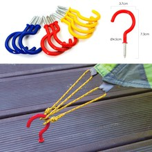 1pcs Tent Peg Hook Canopy Deck Board Fix Screw Nail for Outdoor Camping Picnic Tent Accessories