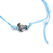 New Style Ankle Bracelet Feet Leg Silver Color Chain Animal Turtle Anklets For Women Barefoot Sandals Bohemian Jewelry(China)