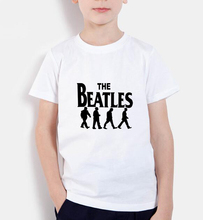 2017 new fashion t shirts children band rock and roll short sleeve casual tops the beatles prinitng kids clothing boys tee shirt