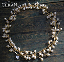 Chran Promotion Item! Luxury Multiple Layer Freshwater Pearl Necklace For Women Chunky Statement Bridal Necklace Jewelry 150cm(China)