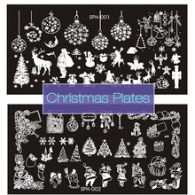 New Nail Stamping Plates Christmas Halloween 9 Style Stainless Steel Nail Art Stamp DIY Template Manicure Nail Tools 2017 Hot