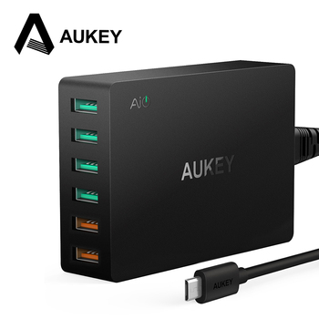 AUKEY Quick Charge 3.0 6-Port USB Travel Quick Charger Universal Charger for Samsung Galaxy S7/S6/Edge,LG,Xiaomi,iPhone & more
