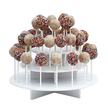 Assembly Removable 3 Tier Cupcake Stands Cake Pop Display Stand Lollipop Holder Plastic Cake Stand Baking Supplies(China)