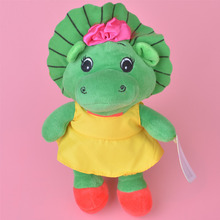 20cm Green Barney Dinosaur Plush Toy, Baby Kids Doll with Free Shipping