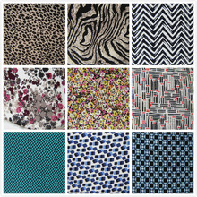 1 yard Printed Zebra Leopard Grain Cotton Jersey Fabric Fashion Shirt Sport Vest dress Casual Apparel DIY Sewing Sleepwear Cloth