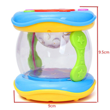 Baby Toys Baby Rattle Mini LED Magic Music Hand Drum Children Infant Early Developmental Toys Funny Gift Learning Developmental(China)