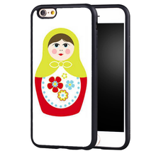 Russian Doll Pattern Printed Soft TPU Skin Mobile Phone Cases OEM For iPhone 6 6S Plus 7 7 Plus 5 5S 5C SE 4 4S Back Cover Shell