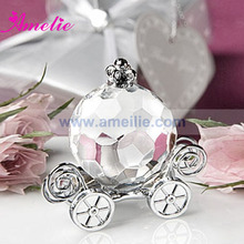 10Piece/Lot With Free Shipping Wedding Gifts For Guests Crystal Cinderella Pumpkin Coach Favors Crystal Wedding Favors