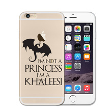 Game Of Throne I'm Not A Princess I'm A Khaleesi Phone Case For Iphone Case 8 7 7S 6 6S Plus 5 5s SE Soft TPU Covers Shell Funda