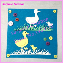 Surprise Creation Cutting dies Duck & Grass Scrapbook Craft Metal Dies DIY Stencil(China)