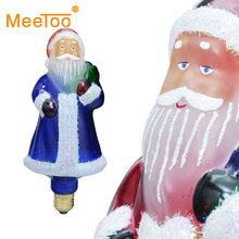 E27 LED Christmas Lights luminaria LED Holiday Lights New Year LED Lights Decoration Santa Claus Xmas Decorative Lights 3D Lamp(China)