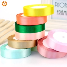 18Colors Pretty Silk Satin Ribbon 15MM 22M Wedding Party Decoration Invitation Card Gift Wrapping Scrapbooking Supplies Riband
