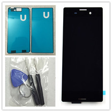 For Sony Xperia M4 aqua LCD Display Touch Screen Digitizer Assembly black white +glue+Tools