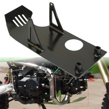 Black Pit Bike Skid Plate Engine Motor Protect For Honda CRF50 XR50 CRF XR 50 2000-2007 Aluminum 33cm(L) x 13.8cm(W)