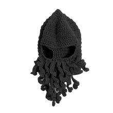 GOOD PRICE Winter Black/Green Tentacle Octopus Cthulhu Design Woolen Knit Beanie Hat Cap Wind Ski Mask