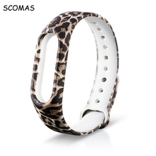 SCOMAS Replacement silicone Wrist Strap Wrist Band For Xiaomi Mi Band 2 Smart Bracelet colorful watch band for Mi Band 2 Strap(China)