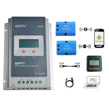 Tracer 3210A 30A MPPT Solar Charge Controller 12V 24V LCD EPEVER Regulator MT50 WIFI Bluetooth PC Communication Mobile APP WY
