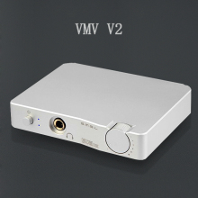 SMSL VMV V2 USB HD audio decoder interface HIFI  32 bit / 384 KHZ DAC with Optical Headphone Analog outputs