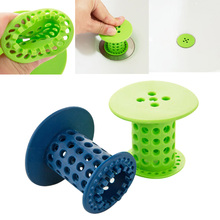 1PC Kitchen Bathtub Cylindrical Anti Clogging Silicone Drain Pool Sink Sewer Debris Filter Net Cleaner Hair Catcher Stopper(China)