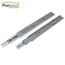 "Probrico 2 Pair 14"" Soft Close Ball Bearing Drawer Rail Heavy Duty Rear/Side Mount Kitchen Furniture Drawer Slide DSHH32-14A"