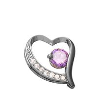 H:HYDE 1PC 2 Colors Romantic Purple CZ Cubic Zirconia Zircon Shiny Amazing Warm Heart Pendant For Womens Jewelry Gifts(China)