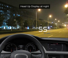 A500 Universal Car OBD2 head up display Vehicle HUD Rise Monitor OBD II Driving Computer Speed Projector Security Simple car