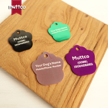 manufactures simple metal blank Aluminum Pet Name Tag Custom Engraved phone number the name footprint dog ID Tag