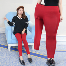 Fat mm plus fat to increase the women's pants autumn thickening woman was thin leggings large size nine pants(China)
