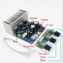 12V TDA2030A power amplifier 2.1 20W*2+30W bass subwoofer Audio amplifier with Volume Control Preamp Board(China)