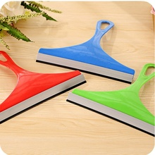 Hot Random Color New Durable Window Mirror Car Windshield Squeegee Glass Wiper Silicone Blade Cleaning Shower Screen Washer 2017