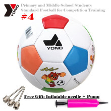 Official Size4 YONO Primary&Middle School Students Standard Football for Game Training Soccer Equipment ,+Pump+Inflatable Needle