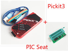 PICKIT3 PIC KIT3 PICKIT 3 Programmer Offline Programming PIC Microcontroller Chip Monopoly+PIC Programmer adapter seat
