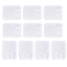 10pcs/lot Transparent Standard SD SDHC Memory Card Case Holder Box Storage New(China)