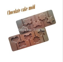 L024 Love&butterfly&star shaped lollipop silicone mold, cake baking, DIY making fun, quality bakeware quality