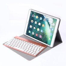 For iPad Pro 10.5 Ultra Thin Smart Folio PU Leather Case Stand Cover+Detachable 7 Colors LED Backlit Wireless Bluetooth Keyboard