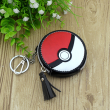 poke ball Lovely Classic Retro Small Change Coin Purse Little Key Car Pouch Money Bag Girl's Mini Short Coin Holder Wallet(China)