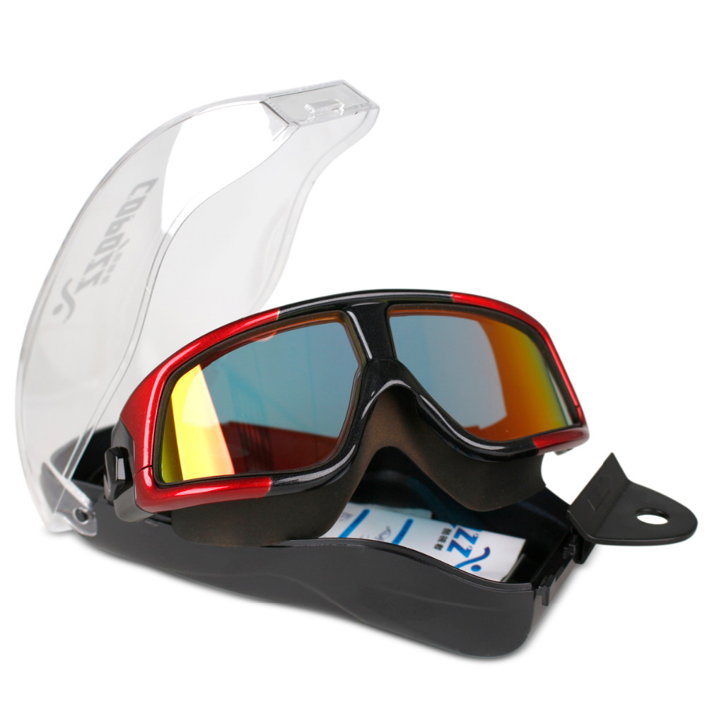 COPOZZ Comfortable Silicone Large Frame Swim Glasses Swimming Goggles Anti-Fog UV  Men Women Swim Mask Waterproof with Case<br><br>Aliexpress