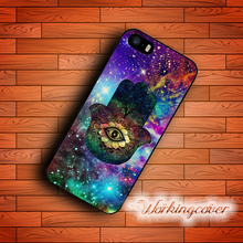 Coque Luxury Nebula Hamsa Hand Case for iPhone 7 6S 6 5S SE 5 5C 4S 4 Plus Case Cover for iPod Touch 6 5 Case.
