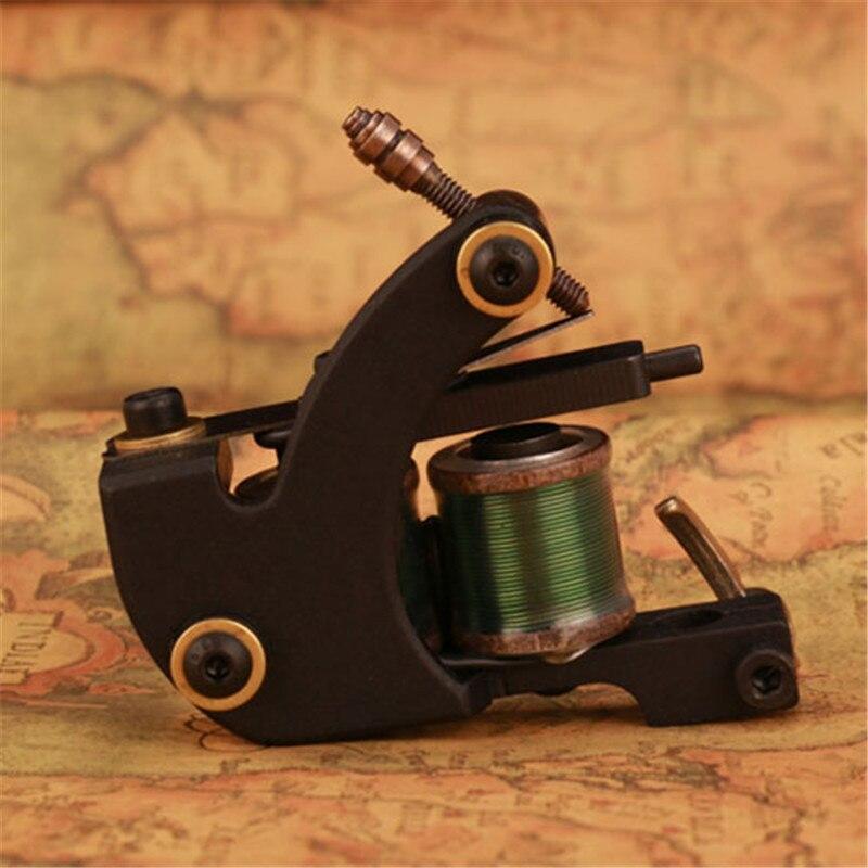 New Arrival Wire Cutting Tattoo Shader Tattoo Gun Tattoo Machine 10 Wraps  Coils Body Art Tool TM-8030<br>