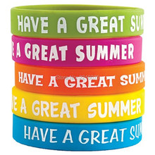 500pcs Have A Great Summer wristband silicone bracelets free shipping by DHL express(China)