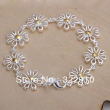 Promotion!!!Free Shipping 925 Sterling Silver Bracelet Can Custom Hand Made Bracelet Wholesale Fashion Jewelry H069(China)