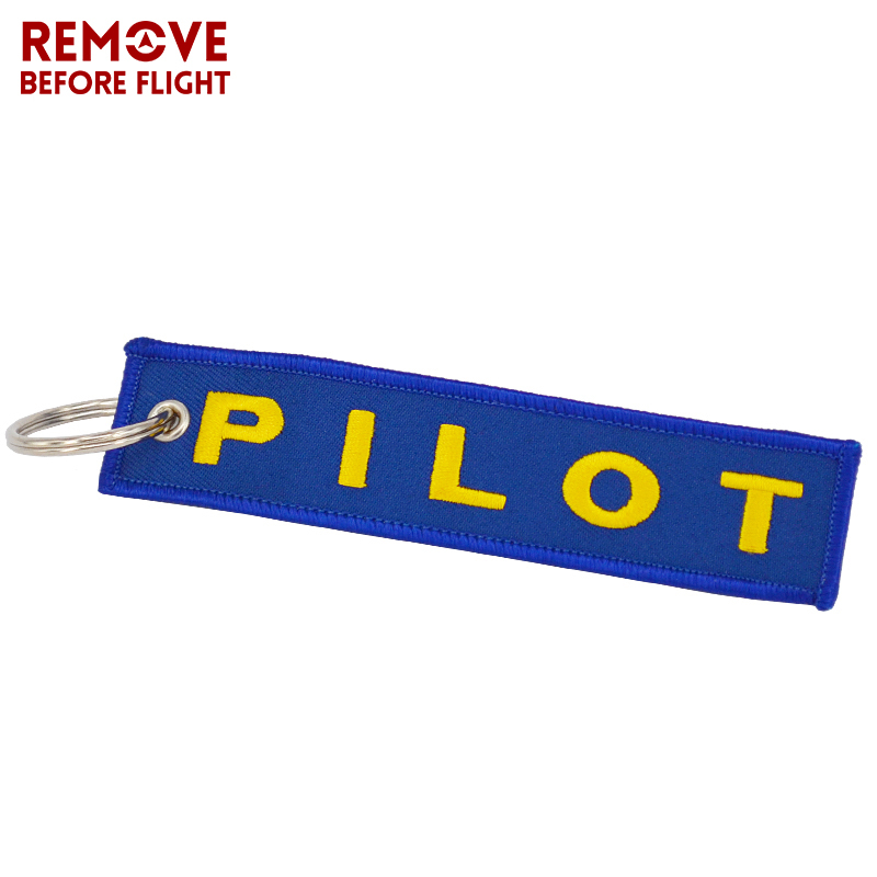 Remove Before Flight Pilot Key Chain OEM Key Chains Jewelry Embroidery Safety Tag Aviation Gifts Special Blue Pilot Luggage Tags6
