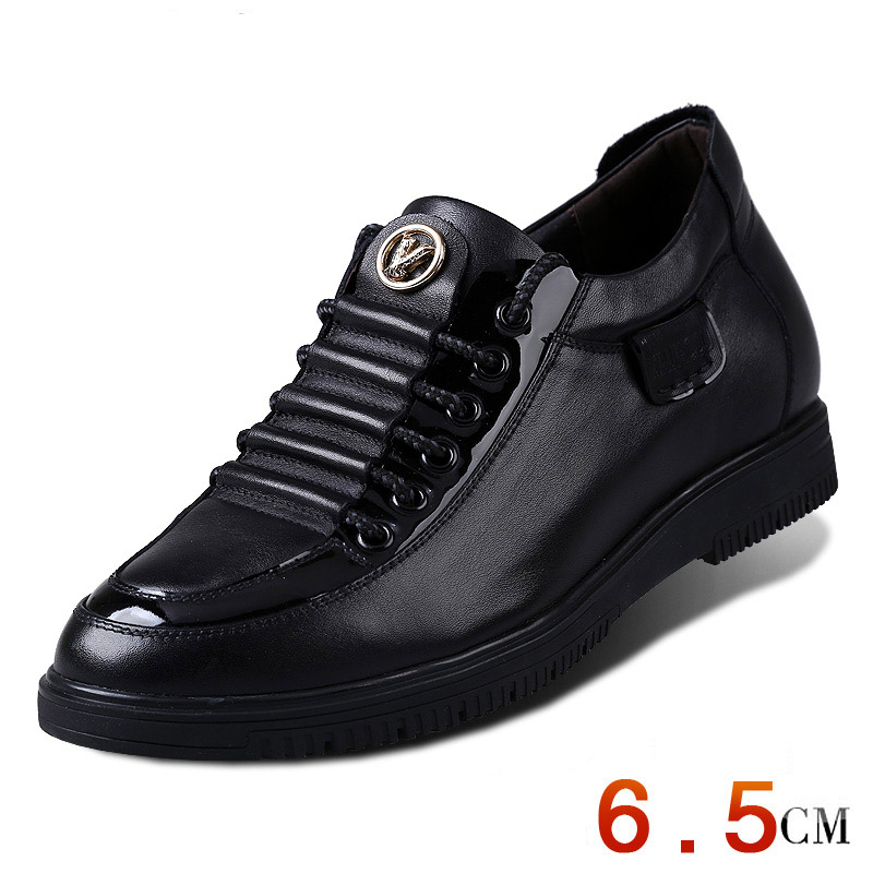 Men New Summer Elevator Shoes Fashion Flats Shoes Increase Height  Genuine Leather oxfords Shoes Taller 2.56 Inches<br><br>Aliexpress