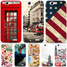 G572 Telephone Box Flag Transparent Hard Thin Skin Case Cover For Huawei P 6 7 8 9 10 Lite Plus Honor 6 7 8 4C 4X G7