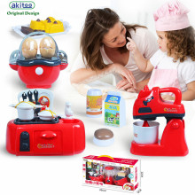 Kindergarten toy set children simulation kitchen home wholesale puzzle cooking small household appliances tableware kitchen gift